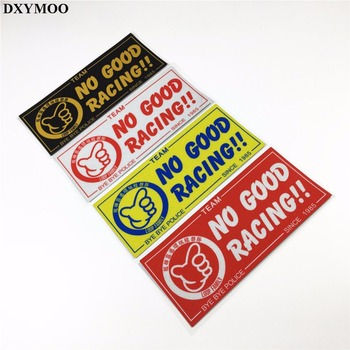 18x8cm Car StickersHelmet Bike Sticker Motorcycle Reflective for Japan Loop Family JDM NO GOOD RACING BYEBYE 1985 image
