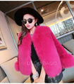 5 Colors New Style Leather Grass Fox Fur Coat Rex Plush Fashion Trendy Slim Was Thin Women Jacket Imitation Fur Outerwear