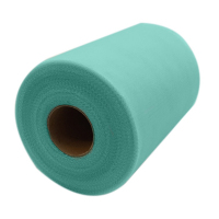 New 6inchx100yd 6inchx300feet Tiffany Green Color Tulle Roll Spool Tutu Wedding Gift Craft Party Bow Banquet