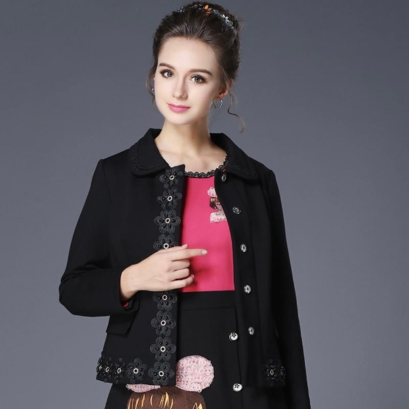 Vestes manteaux vêtements femmes grande taille femmes automne nouveau style européen et américain plus engrais pour augmenter le revers long-