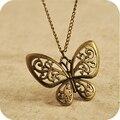 Venta al por mayor OMH On0113 accesorios moda vintage recorte collar de mariposa 18 g
