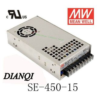high quality  MEAN WELL Original power supply unit ac to dc power supply SE-450-15 450W 15V 30A MEANWELL