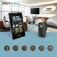 Protmex ЦВЕТ МЕТЕОСТАНЦИЯ, 3352C цифровой сигнализации стены часы метеорологическая станция Температура Влажность термометр гигрометр