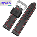 22mm 24mm P-A-M- 00112 0038 Watch band Leather strap M Road lane dual personality High-grade soft