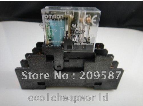 1 комплект G2R-2-S 220VAC двухпозиционное реле с гнездом