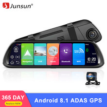 "Junsun A960 4G ADAS Car DVR Camera 9.88""display Android 8.1 Rear View Mirror Rear 1080P WiFi GPS Dash Cam Registrar Video Record(China)"