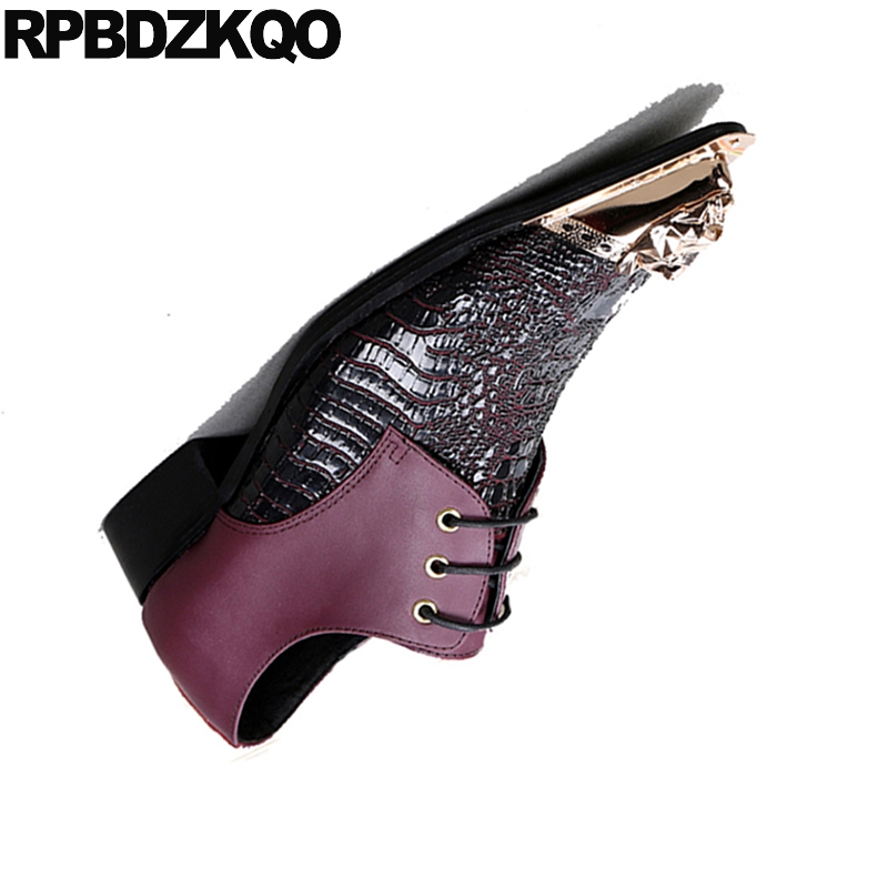 Puntas Color Toe Serpiente Italia Metal Con Vestir Cocodrilo Más Oxfords Lotus Root Tamaño Del 46 Snakeskin De Italiano Piel Partido Zapatos ww1YOR
