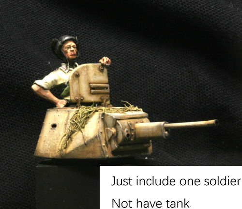 1/35 Capo <font><b>Carro</b></font> AB41 & L6 Italian Tanker soldier toy Resin Model Miniature Kit unassembly Unpainted image