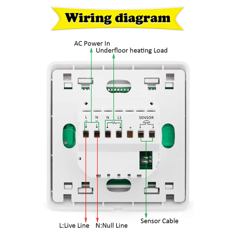 hight resolution of  floureon lcd display temperature controller 16a weekly thermostat anti freezing heating thermostats thermoregulator white