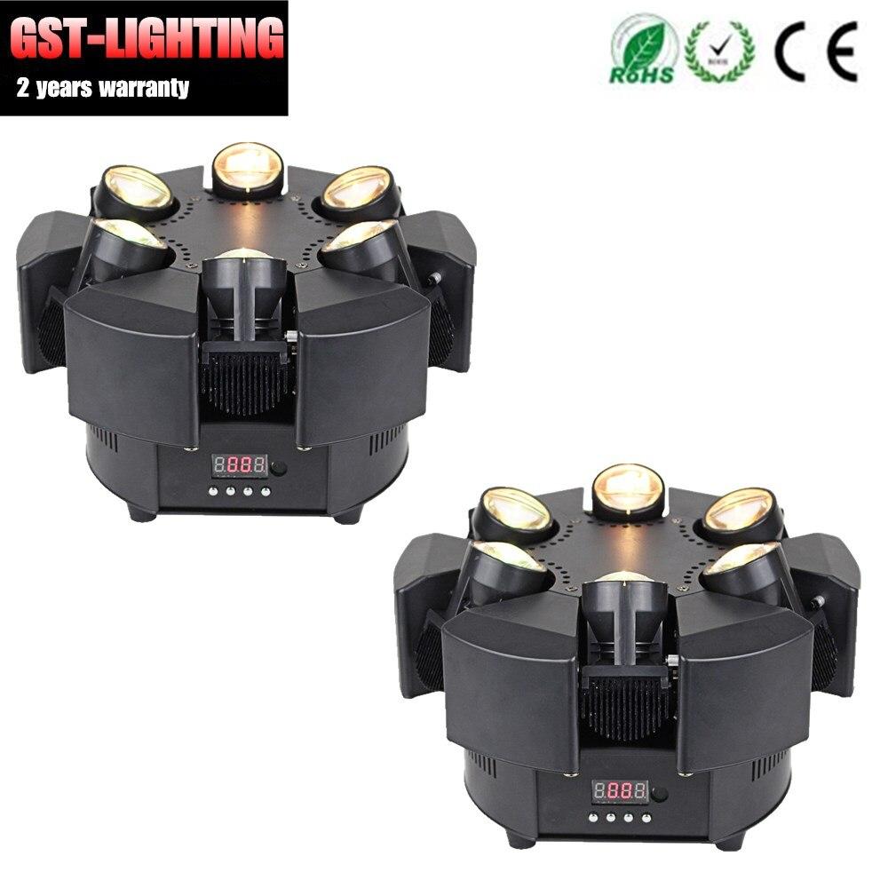 2 stks/partij RGB Enkele Choive Kleur Bloemen 6 Heads Smart Beam Moving Head Licht
