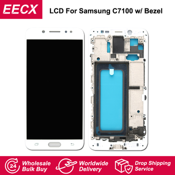 C8 AMOLED Display For Samsung Galaxy C8 LCD C7 2017 C7100 C710F Display Screen Touch Screen Digitizer Assembly C8 C710F/DS LCD