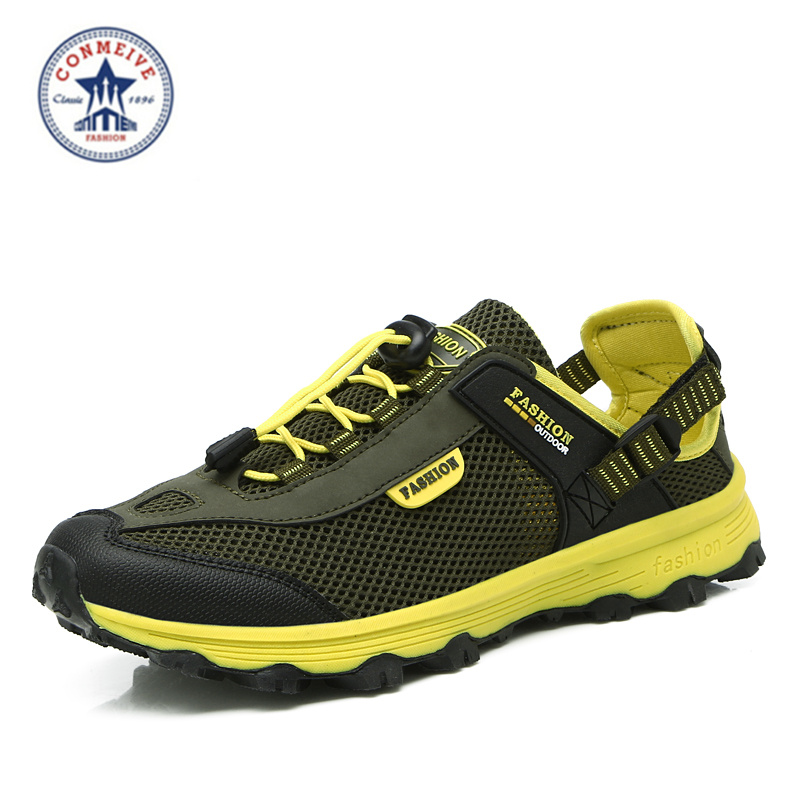 new hiking shoes men outdoor sapatilhas camping mulher wading fishing scarpe trekking uomo women Breathable mesh Slip-On 2016 men s breathable air mesh hiking shoes lace up women mountain climbing outdoor sports boots sneakers scarpe trekking uomo