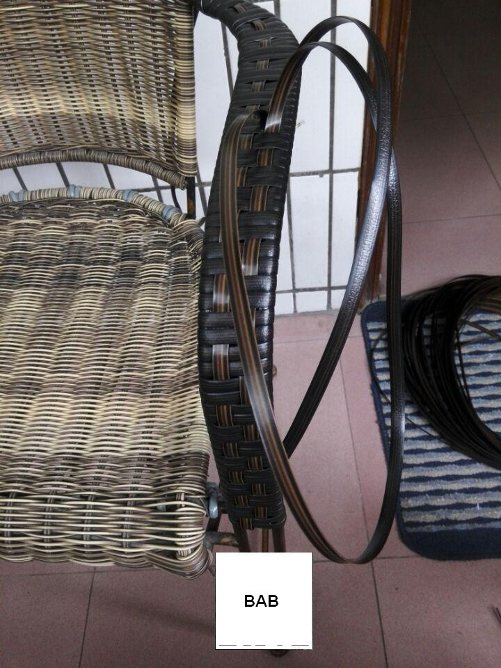 Wood Grain Flat-Mouth Woven Rattan Plastic PE Wicker Repair Material Storage Baskets Patio Furniture About 220-260 Feet in Length Coffee Tables Hand-Woven DIY Materials Used for Garden Chairs