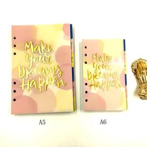 Image 5 - ג יימי הערות חמוד ורוד עור קלסר מחברת A5A6 2019 מתכנן מתוק ילדה יומן ספר משרד & בית ספר מתנת אספקת נייר מכתבים