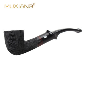 Image 4 - RU MUXIANG 2019 New Fashion Good Quality Wooden Briar Wood Tobacco Small Pipe smoking For 9 mm filter aa0333k01