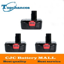 High Quality 3x New 19.2V 2000mAh Black Ni-CD Replacement Power Tools Battery for Craftsman DieHard  C3, 11375, 130279005