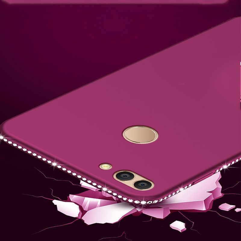 Роскошный Блестящий Матовый чехол SIXEVE со стразами для huawei P20 Pro P8 P9 Lite 2017 P Smart Honor 8 9 mate 10, мягкий силиконовый чехол для телефона
