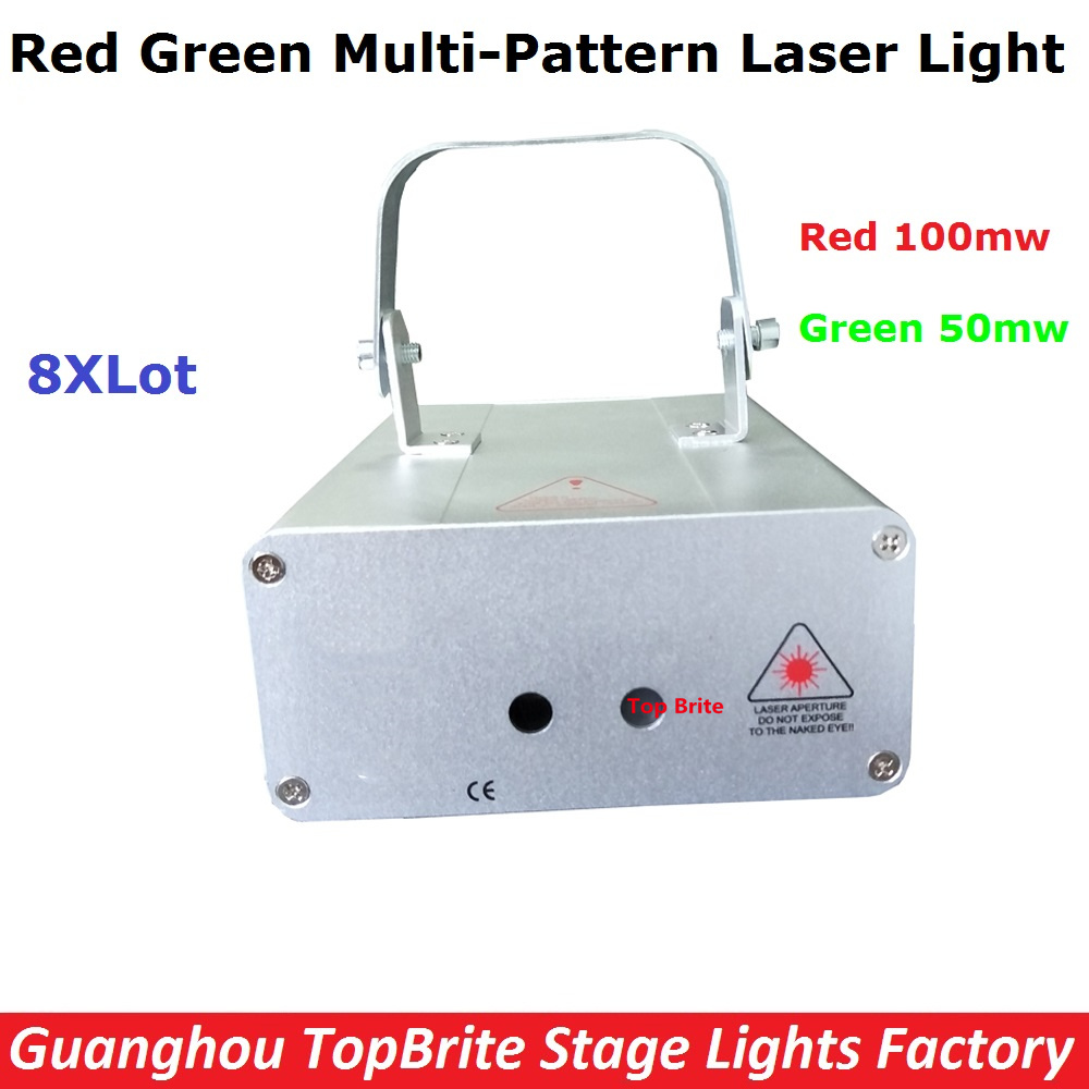 8Pcs/Lot Factory Price Mini Size Stage Laser Lights Good Quality 150mw RG Full Color Animation Laser Light For Free Shipping rg mini 3 lens 24 patterns led laser projector stage lighting effect 3w blue for dj disco party club laser