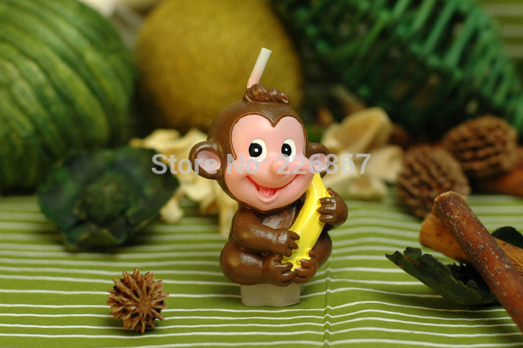 Gift Candles Monkey Birthday-Party Charminggifts Creative Holiday The Best Children's