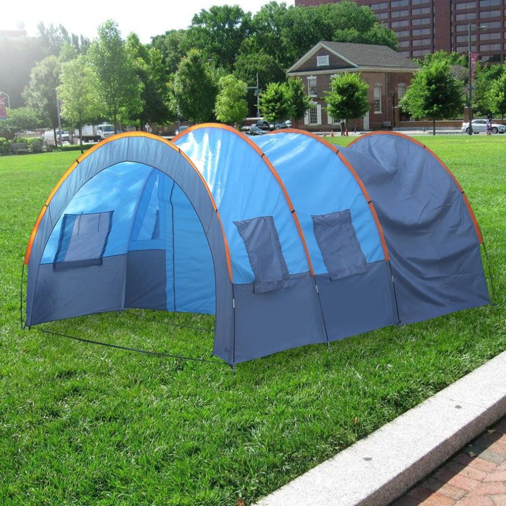 Quick Installation 2 Room 1 Hall 5 Window 8-10 People Waterproof Outdoor Garden Fishing Hiking Camping Tent free shipping installation terrapol