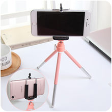 Camera Phone Holder Table Tripod Telescopic Two Section Tripod Desktop Photography Tripod Small Digital SLR Camera Bracket(China)