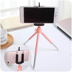 Camera Phone Holder Small Digital SLR Camera Bracket Table Tripod Telescopic Two