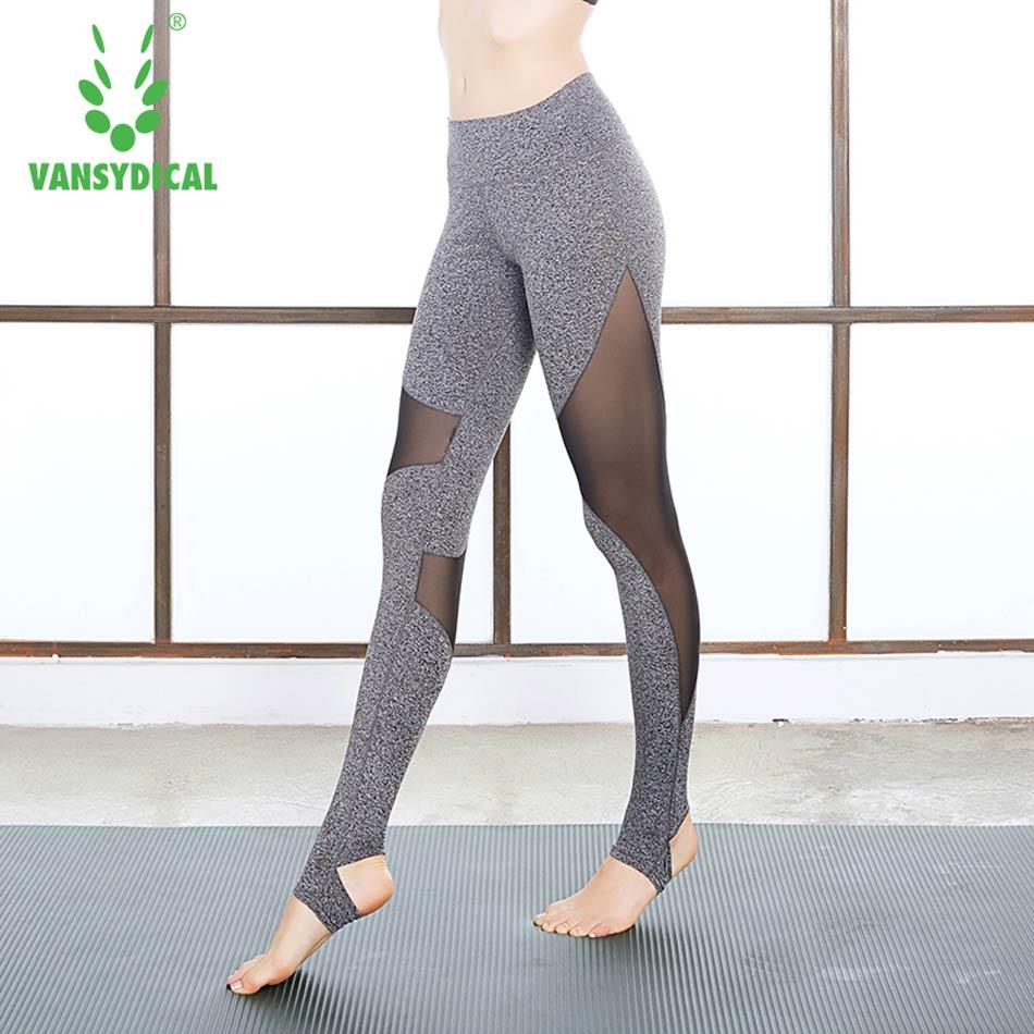 Di Vita Elestic Pantaloni Alta Sexy Maglia Donna Patchwork Yoga xEwUOq4YS