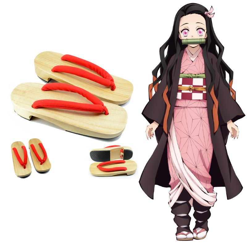 Naixin Demon Slayer Cosplay sabot chaussures Kimetsu no Yaiba Halloween Cosplay accessoire japonais en bois Geta chaussures pantoufles traditionnelles
