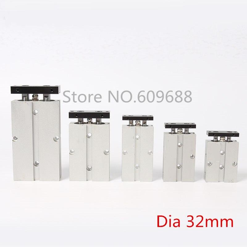 Double-Axle pneumatic Cylinder/Double-rod cylinder TN32-80 TN32-100 TN32-125 TN32-150 TN32-175 TN32-200