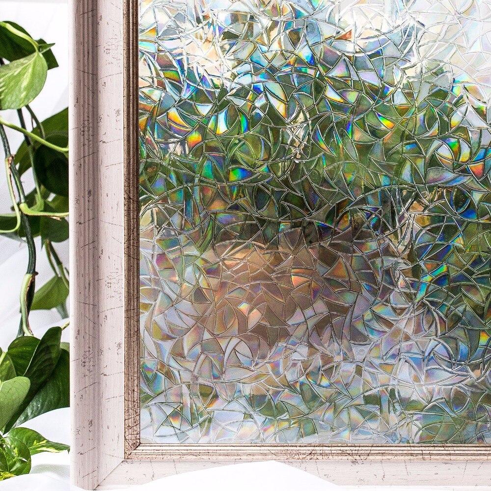 CottonColors Fenêtre de La Vie Privée Film décoratif Aucun Colle 3D Statique Décoratif Fenêtre Teinte Verre Autocollant Taille 90x300 cm