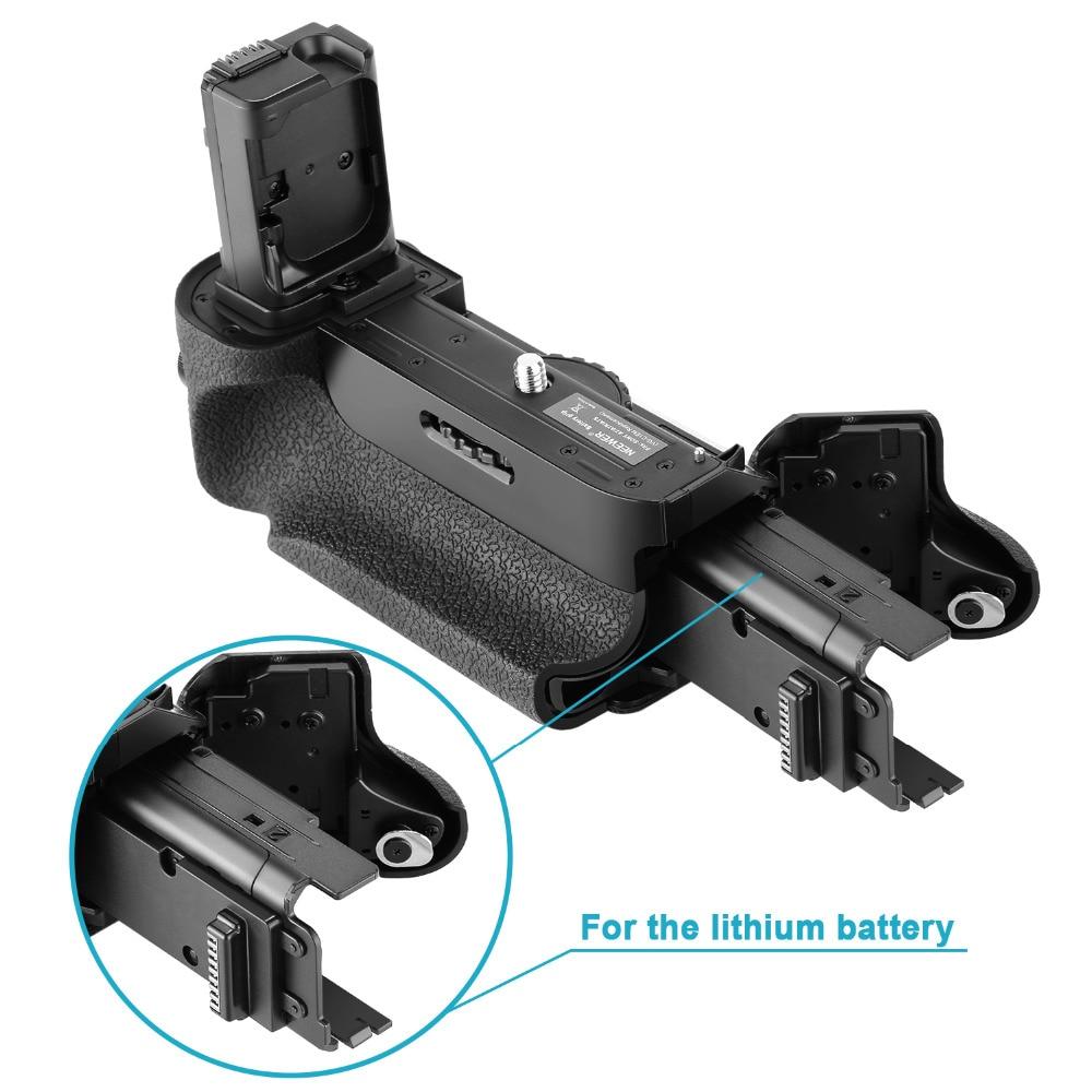Neewer poignée de batterie verticale (remplacement pour VG-C1EM) pour Sony Alpha A7 A7R A7S DSLR appareils photo compatibles avec la batterie de NP-FW50 - 4