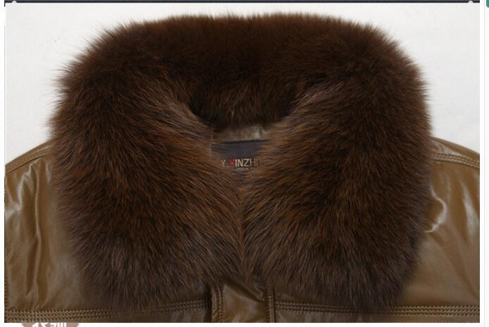 2017 бренд мужской из зимней эко-кожи хлопковая куртка большой Размеры мужские хлопчатобумажные утепленные среднего возраста волос Свободны...