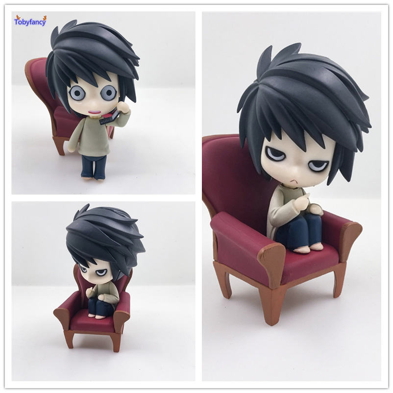 Tobyfancy DEATH NOTE Action Figures Nendoroid L Lawliet Anime PVC 100mm Toy Japanese Anime Figures DEATH NOTE Nendoroid Figure sosw fashion anime theme death note cosplay notebook new school large writing journal 20 5cm 14 5cm
