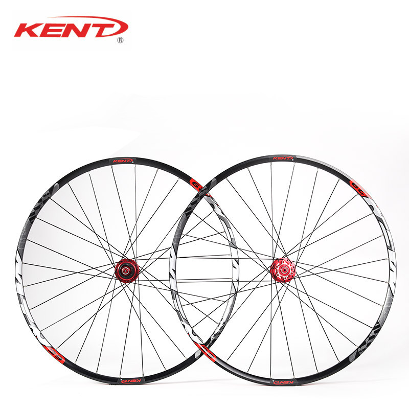 KENT Mountain Bike Disc Wheels 29 Aluminum CNC 28 Hole Mtb Wheelset For SHIMANO 11 Speed Bicycle Wheels Compatible 12*142 Thru bicycle wheel 29 inch mtb 28 holes 6061 aluminum alloy cnc disc brake wheels 4 bearing wheels 8 9 10 11 speed bicycle parts