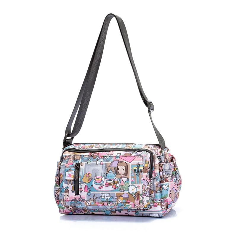 New Women's Handbags Nylon Bag Postman Purses Known Brands Woman Shoulder Crossb