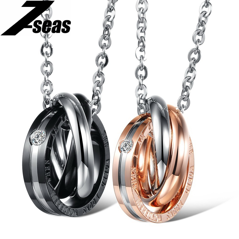 Romantic Jewelry Hot Stainless Steel Necklaces & Pendants Fashion Black & Gold Color Women Men Jewelry Attractive Hot Sale,GX863