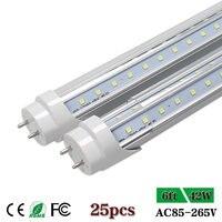 CNSUNWAY 6ft Led Tube Light T8 LED Tube Lights 6 ft 1800mm Warm/Cool White Freezer/Cooler Door LED Lamp AC85 265V 42W 25pcs