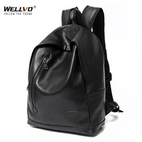 Wellvo 2019 PU Leather Backpack Korean Japan Style Bags New Fabric Multifunctional Shoulder Relaxation Mochila Rucksack XA2152C