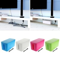 New S L Rectangular Cable Storage Box Wire Management Socket Safety Tidy Organizer White Green Blue