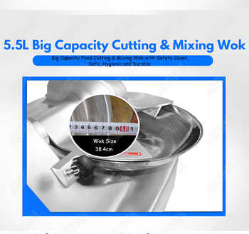 HLQ8 stainless steel commercial food cutting mixer food cutter machine for vegetable meat fillings