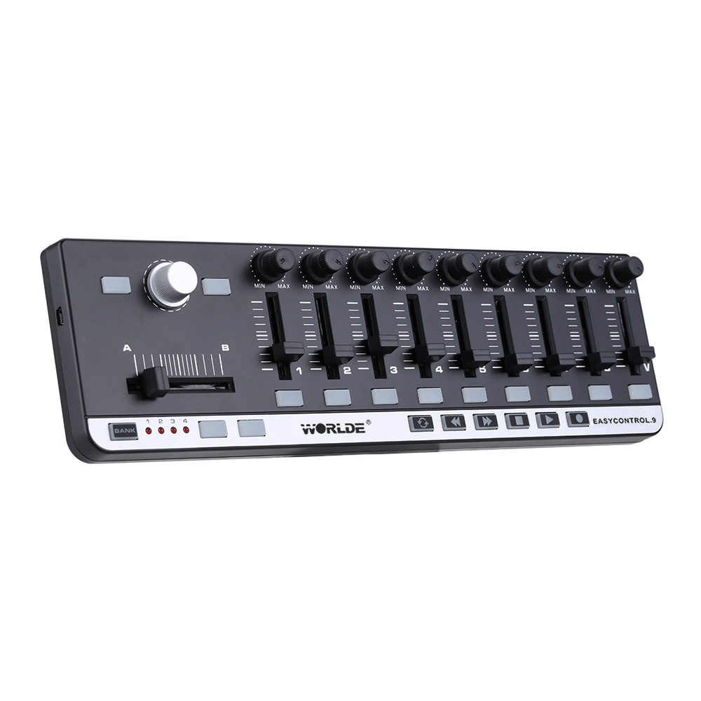 Hot sale Worlde EasyControl.9 Mini USB 9 Slim-Line Control MIDI Controller