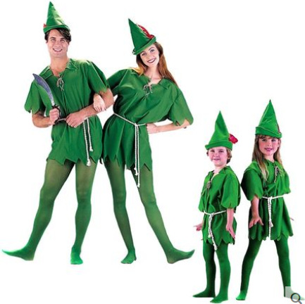 Kid Adult Laiquendi Peter Pan Cosplay Costumes Unisex