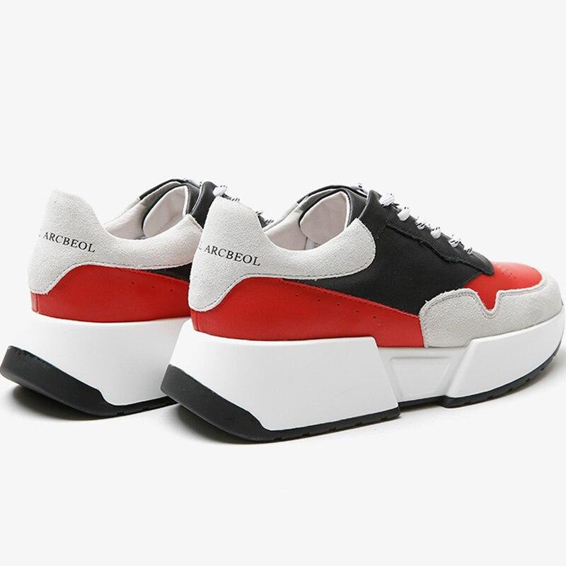 Adulto Ugi Couleurs Plate rouge Cuir Mélangées Femmes Sneakers Chaussures Plataforma Chaude Bleu Ins Vente En Véritable Des forme Feminino Sapatos TTA5rzWwq