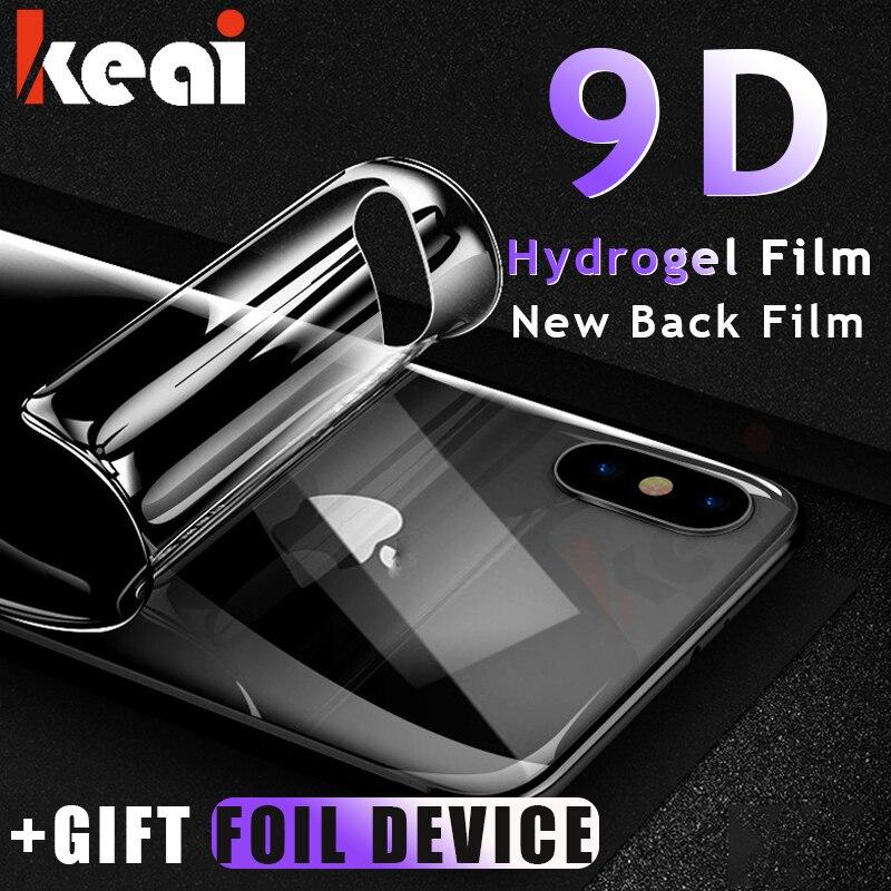 Film protecteur d'écran avant et arrière 9D pour iPhone X Xs Max Film arrière Hydrogel HD pour iPhone XR Xs X Film de Protection (pas verre)