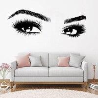 Новые поступления Большой глаз ресницы наклейки на стену красивые девушки наклейки-глаза дом винила искусства Декор салон красоты стиль на...