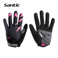 Santic Cycling Gloves Women Full Finger Spring Autumn 2018 NEW Arrival Road Bike Gloves Touchscreen Sport Bicycle Gloves