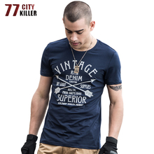 77City Killer Military Printed T-Shirt Men Summer O-Neck Short Sleeve Casual Combat Tshirt Male Cotton T Shirts camisetas hombre