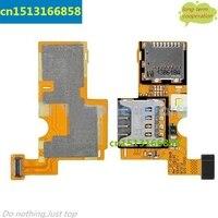OEM Sim-karte Tray & Speicher SD Kartenhalter Flexkabel für LG Optimus F6 D500