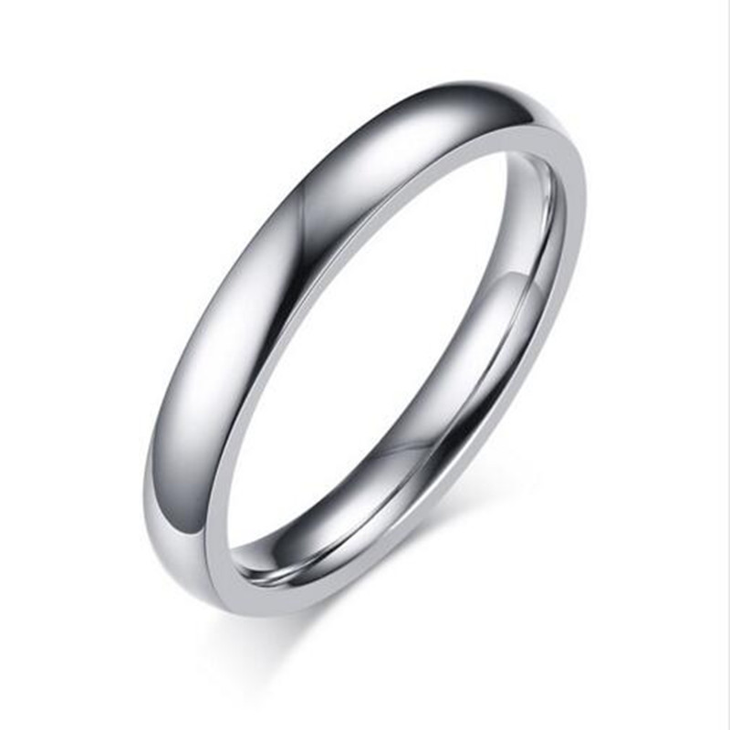 2016 Sale Anillos Rings New Fashion Womens Smooth Surface Ring Plated Stainless Steel Women Jewelry High Quality Party R-145