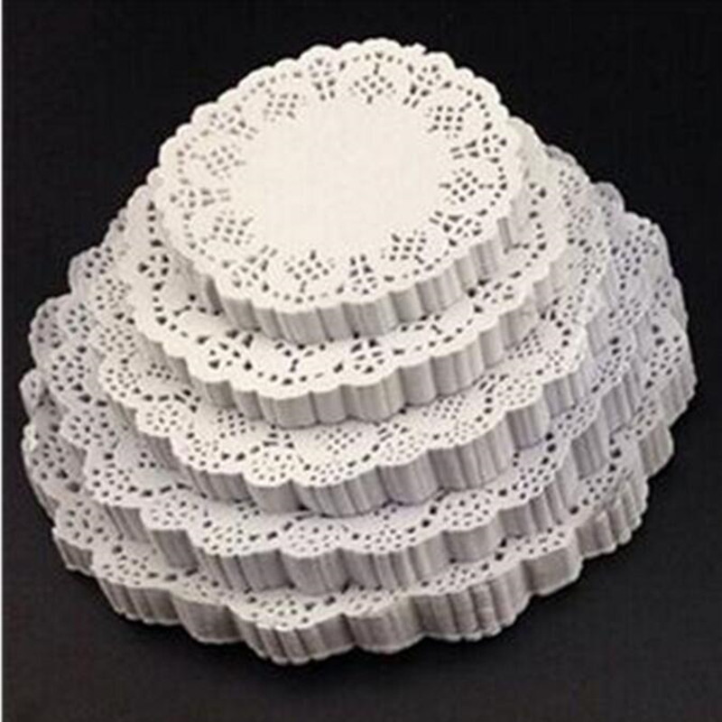 180 pcs round flower lace paper cake dinner mat cushion tableware mat baking paper table accessories mats pads drop shipping